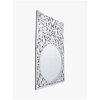 Libra Venezia Etched Mirror, Metallic, H136 x W86cm (H136 x W86 x D5cm)