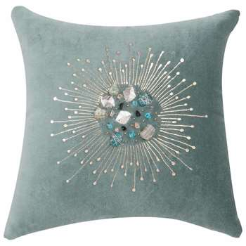 LICHEN Cotton Cushion Cover with Encrusted Gems (H30 x W30cm)