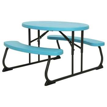 Lifetime Children's Oval Picnic Table - Blue at Argos (H53.5 x W63 x D86.4cm)