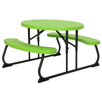 Lifetime Children's Oval Picnic Table - Green at Argos (H53.5 x W63 x D86.4cm)