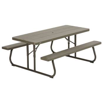 Lifetime Picnic Table - Brown (H73.7 x W182.9 x D76.2cm)