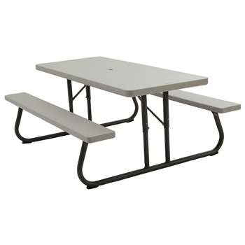 Lifetime Picnic Table - Grey (H73.7 x W182.9 x D76.2cm)