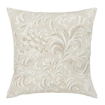 Light Grey Cotton Cushion Cover with Print (H40 x W40cm)