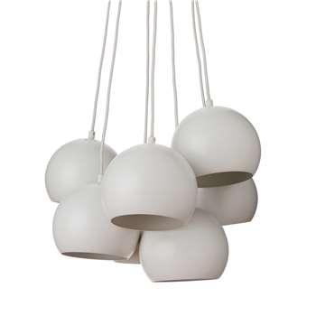 Koge Ball Multi Pendant, Stainless steel, White, 14.5 x 18 cm