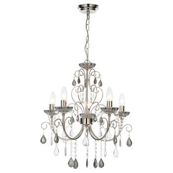 Lilian 5 Light Chandelier Ceiling Light (H91 x W57 x D57cm)