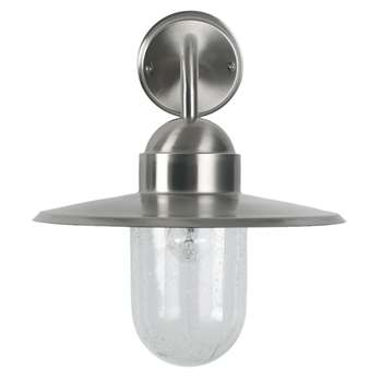 Lilium Outdoor Wall Light Silver (H30.3 x W29.4 x D37cm)