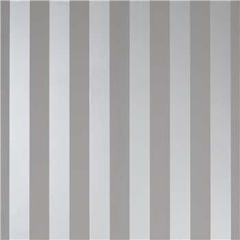 Lille Steel Stripe Wallpaper