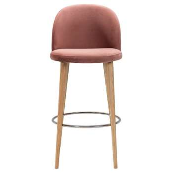 Lily Barstool Pink (H79 x W51 x D59cm)