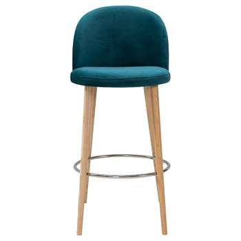 Lily Barstool Teal (H79 x W51 x D59cm)