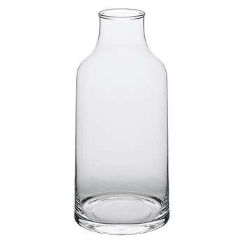 Lily Clear Bottle Shape Glass Vase (H28 x W12 x D12cm)