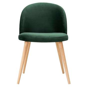Lily Dining Chair Bottle Green (H77 x W50 x D53cm)