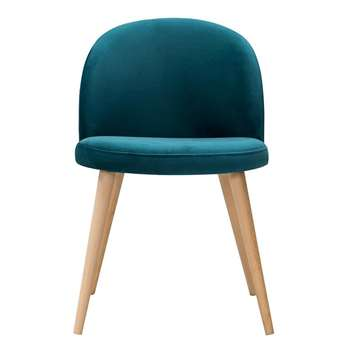 Lily Dining Chair Teal (H77 x W50 x D53cm)