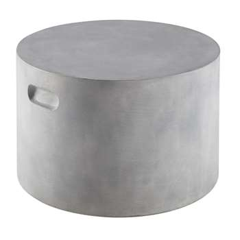 LIMA cement finish outdoor side table (35 x 55cm)