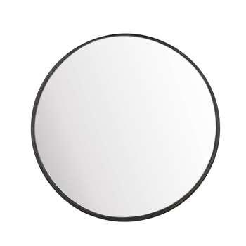 LIMBOURG Round Black Metal Convex Mirror (H94 x W94 x D10cm)