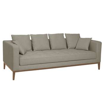 Limoges three seater sofa pewter (66 x 208cm)