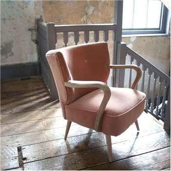 Lina Rose Velvet Armchair (H85 x W65 x D50cm)