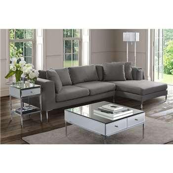 Linear Right Hand Corner Sofa Malaga Steel (66 x 280cm)