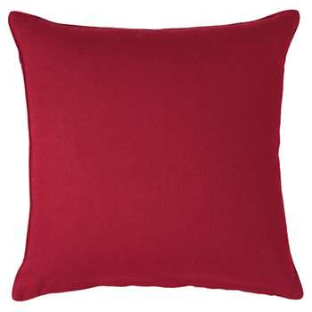 Linen Cushion Cover, Large - Crimson (51 x 51cm)