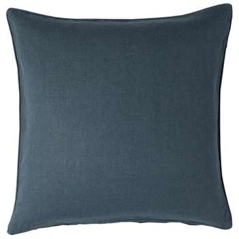 Linen Cushion Cover, Large - Ink Blue (51 x 51cm)