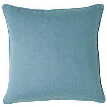 Linen Cushion Cover, Large - Mid Blue (51 x 51cm)