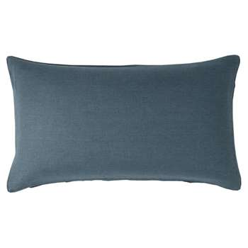 Linen Cushion Cover, Small - Ink Blue (35 x 60cm)