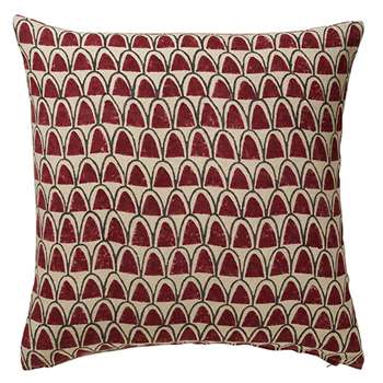 Linnaeus Arches Cushion Cover, Extra Large - Merlot (56 x 56cm)