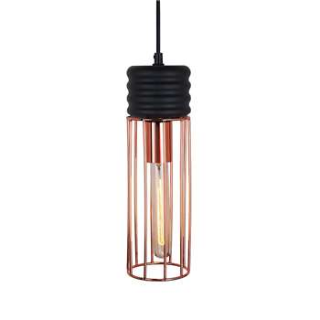 Linus Copper Pendant Light (H33 x W10 x D10cm)