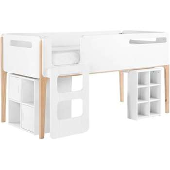 Linus High Bed, Pine and White (111 x 199cm)