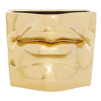 Lips vase gold (12 x 15cm)