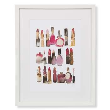 Lipsticks Print Framed Print (42 x 25cm)