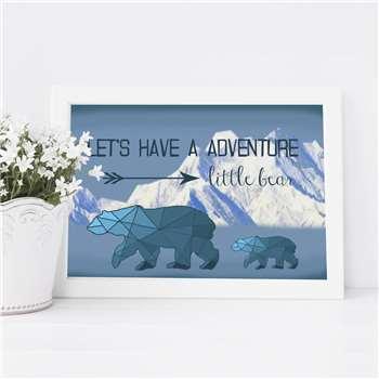 Little Bear Adventure Print (H21 x W29.7cm)