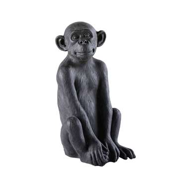 LITTLE GANDHI Black Resin Monkey Garden Accessory (55.5 x 29.5cm)