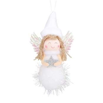 Little Girl Hanging Christmas Decoration (H9 x W7 x D4cm)