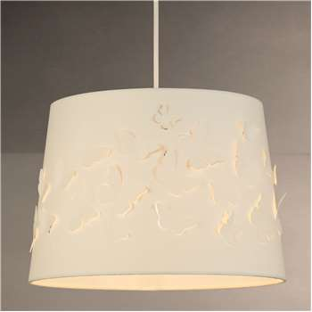 little home at John Lewis Butterflies Cut Out Lampshade, Natural (H21 x W35 x D35cm)