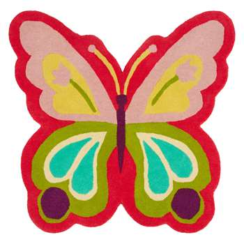 little home at John Lewis Butterfly Shape Children's Rug (H70 x W70cm)