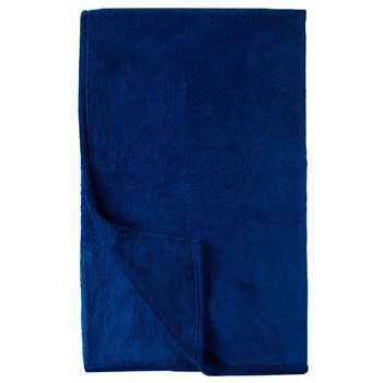 little home at John Lewis Plain Fleece Throw, Blue (H130 x W150cm)