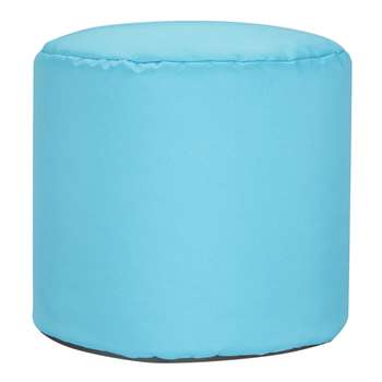 little home at John Lewis Round Bean Bag Stool, Aqua (H35 x W40 x D40cm)