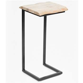 Live Edge Laptop Table - Blonde (H67 x W33 x D21cm)