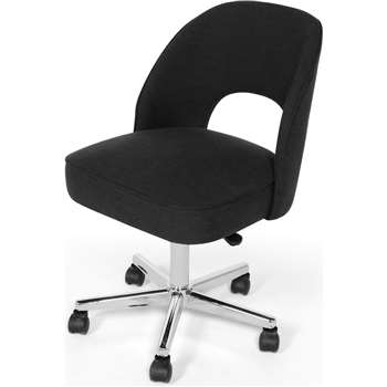 Lloyd Office Chair, Midnight Black (77 x 50cm)