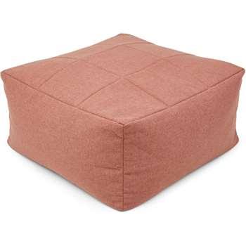 Loa Quilted Floor Cushion, Dusk Pink (H30 x W60 x D60cm)