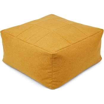 Loa Quilted Floor Cushion, Yolk Yellow (H30 x W60 x D60cm)