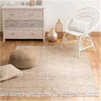 LODGE cotton and jute woven rug (140 x 200cm)