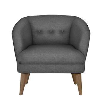 LOFT Benni Armchair Soljen Charcoal - Self Assembly