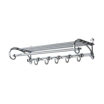 LOFT Nickel Hook Rail (19 x 74cm)