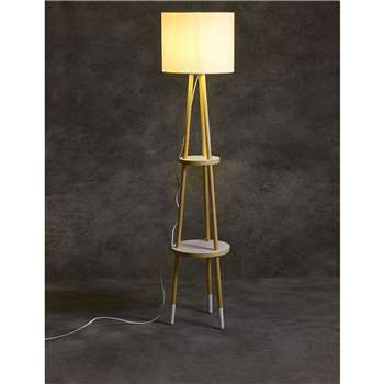 LOFT Shelves Floor Lamp, White (141 x 32cm)