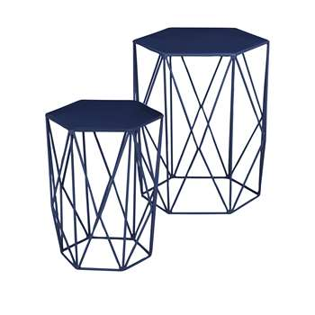 LOFT Wire Nest of Tables Navy (48 x 40cm)