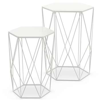 LOFT Wire Nest of Tables White (48 x 40cm)