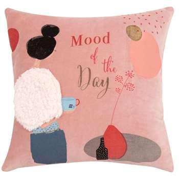 LOLA - Multicoloured Printed Cotton Cushion Cover (H40 x W40cm)