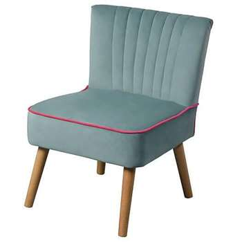 LOLA OYSTER AQUA  Retro Chair (79 x 60cm)
