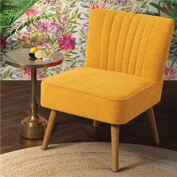 LOLA OYSTER ORANGE Retro Chair (81 x 57cm)